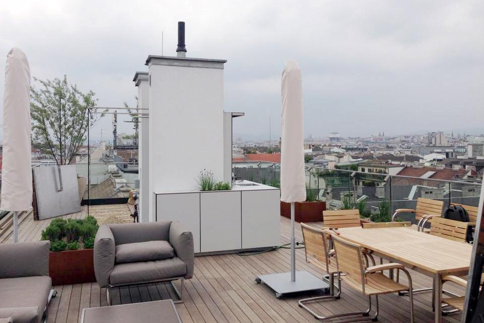 Dachterrasse im Herzen Wiens